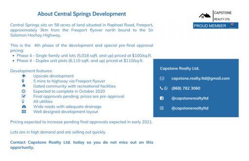 Central Springs Details